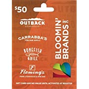 Bloomin' Brands Gift Card $50