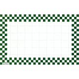 Retail Price Sign Sign Cards White Cards With Green Checkerboard Border - 5 1/2 L x 2 1/2 H 100 Per Pack