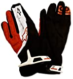 red and white cycling gloves - Alpinestars Moab Cycling Gloves, Small, White/Red/Black