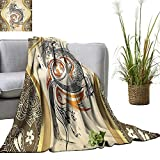 YOYI Digital Printing Blanket Flames Tribal Grunge Accessoriesati Lover Wd Better Deeper Sleep 35'x60'