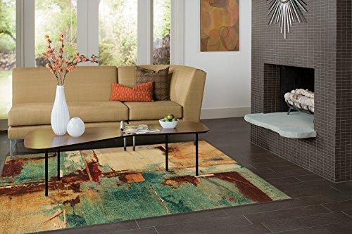 - Mohawk Home Strata Aqua Fusion Abstract Printed Area Rug, 7'6