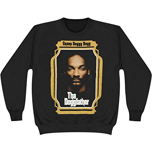 Snoop Dogg Men's The Doggfather Crewneck Sweatshirt X-Large Black