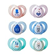 Tommee Tippee Closer To Nature Moda Pacifier, 6-18 Months, 2 Count (Colors will vary)