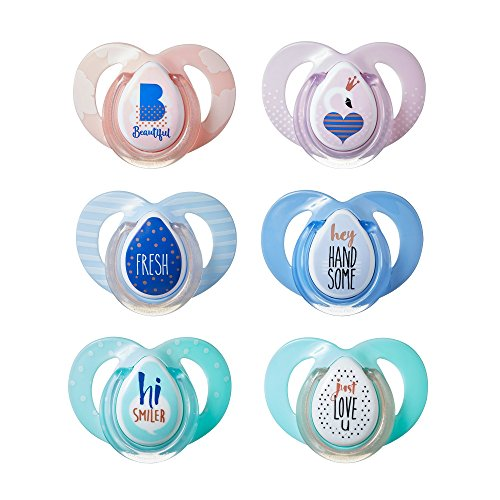 Tommee Tippee Closer To Nature Moda Pacifier, 6-18 Months, 2 Count (Colors will vary) (Assorted)