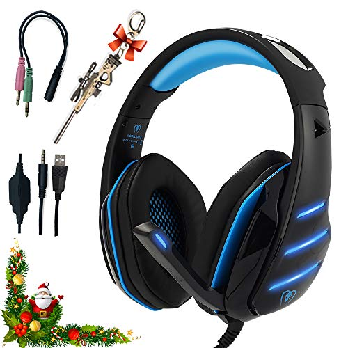 Professional Headset Gaming with Noise Cancelling Mic Used in PC PS4 Xbox One