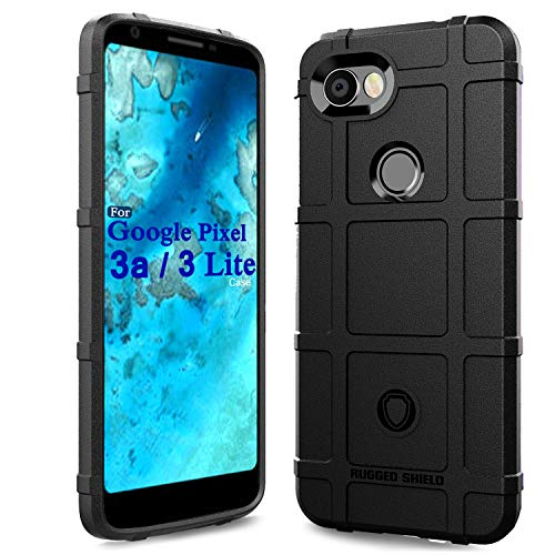 Pixel 3a Case?Google Pixel 3 Lite Case,Sucnakp Heavy Duty Shock Absorption Phone Cases Impact Resistant Protective Cover for Google Pixel 3 a Case?New Black?