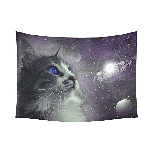 Planet Wall Art Home Decor, Cat in Outer Space  Wall Hanging