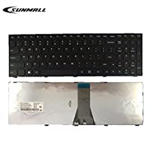 b50 keyboard for Lenovo ,SUNMALL Laptop Keyboard Replacement WITH FRAME for Lenovo LdeaPad Flex 2 15 B50 B50-30 B50-45 B50-70 B50-80 B51-80 G50 G50-30 G50-45 G50-70 G50-80 G50-75 Z50 US LAYOUT