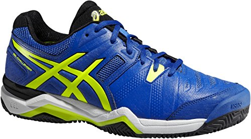 Asics Gel-Challenger 10 Clay - Scarpe da Tennis Uomo - Blue/Flash Yellow/Onyx (4207)