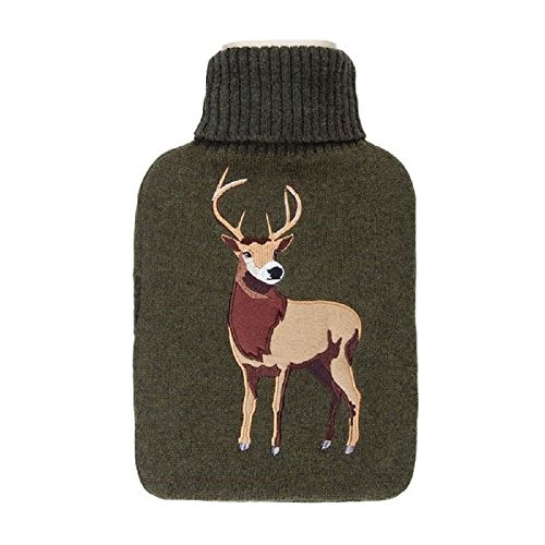 Aroma Home Bouillotte Cousue Motif Cerf