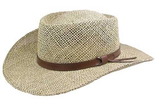 3941a2053f4bd Amazon.com  Stetson Gambler Seagrass Outdoorsman Hat  Clothing