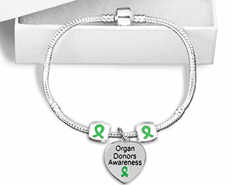 Amazon Com Organ Donors Awareness Snake Chain Sterling Silver