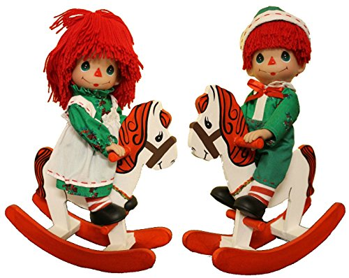 Doll Andy Set (Precious Moments Rockin' Christmas Wishes Raggedy Ann & Andy Doll Set)