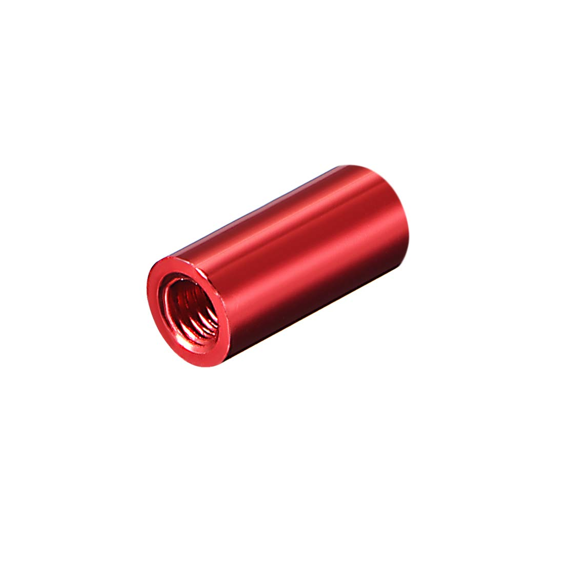 uxcell Round Aluminum Standoff Column Spacer M3x15mm,for RC Airplane,FPV Quadcopter,CNC,Red,10pcs