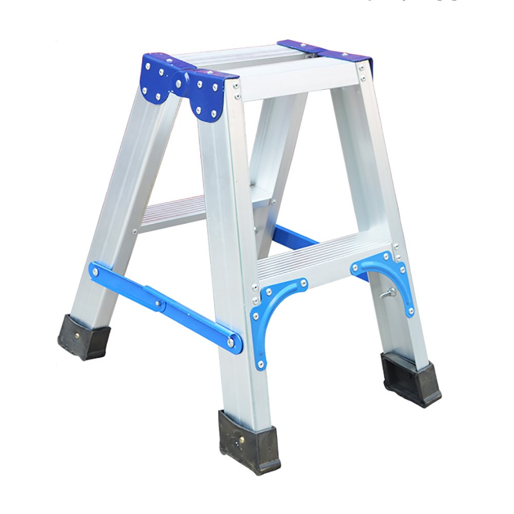 Ladder stool 2-step Ladder Household Folding Ladder Aluminum Alloy Step Stools Thicken Indoor Climb The Ladder
