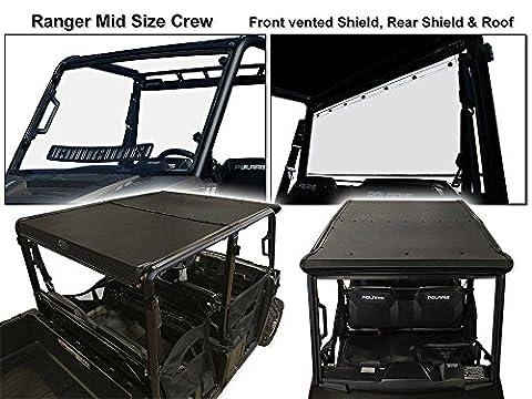 Polaris Ranger 4 Seat Crew (Mid-size) Roof/Shield/Cab Back Combo (Utv Crew Roof)