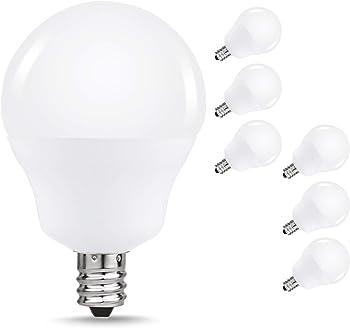 6-Pack JandCase E12 Candelabra Ceiling Fan Light Bulb