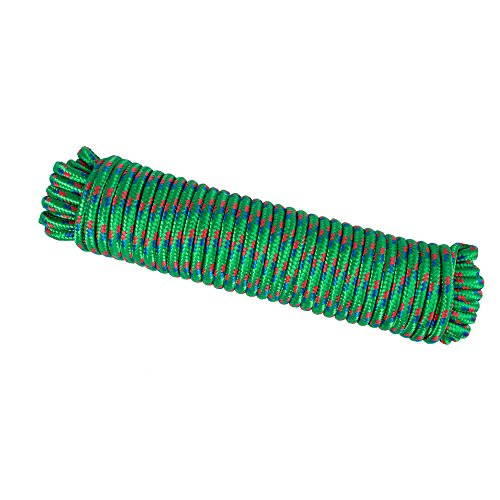 Wasons W102-2G Diamond Braided Utility Rope, 3/8-Inch x 100-Foot, (Diamond Braid Polypropylene Rope)