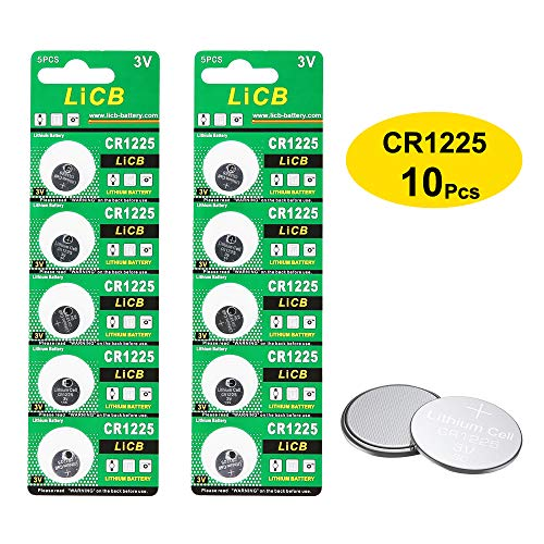 LiCB 10 Pack CR1225 3V Lithium Battery CR 1225