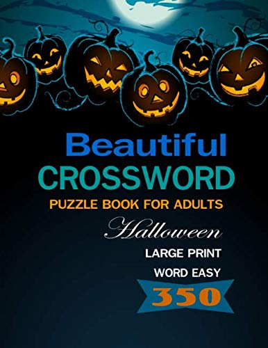 Beautiful Crossword Puzzle Books for Adults: Halloween Large