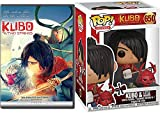 Mesmerize Hero Animated Feature Kubo and the Two Strings Mystical Journey DVD + Pop Figure & Little Hanzo character 2 Pack Fun Film Set