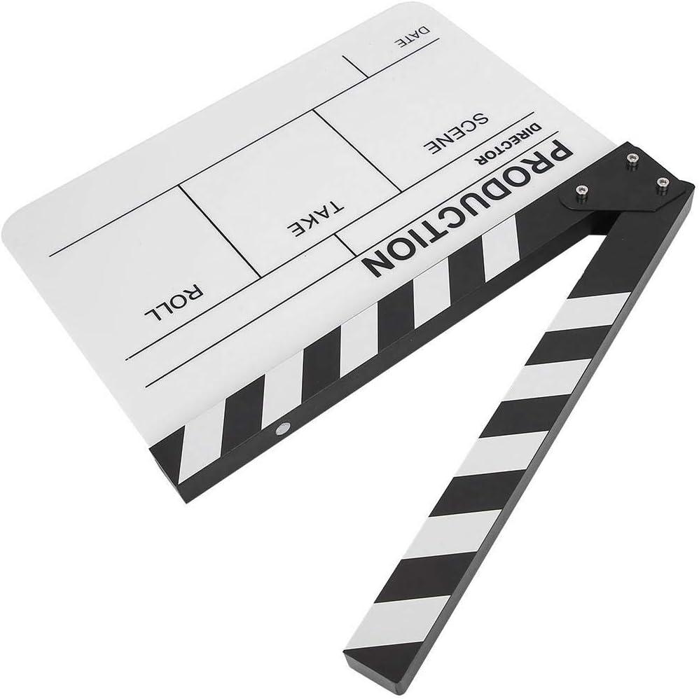 Xinwoer Clapboard Acrylic Director Scene TV Movie Action Board Film Cut Prop with Pen Color