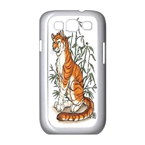 [Tony-Wilson Phone Case] For Samsung Galaxy S3 -IKAI0446420-Powerful Tiger Pattern