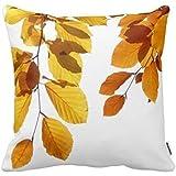 Decorbox Fall Autumn Leaves Yellow Orange Tree Decorative Square Throw Pillow Case Personalized Cushion Cover Home Decorative Pillow Cover 18x18