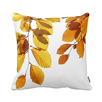 Amazon Decorbox Fall Autumn Leaves Yellow Orange Tree Mesmerizing Orange Decorative Pillows For Couch