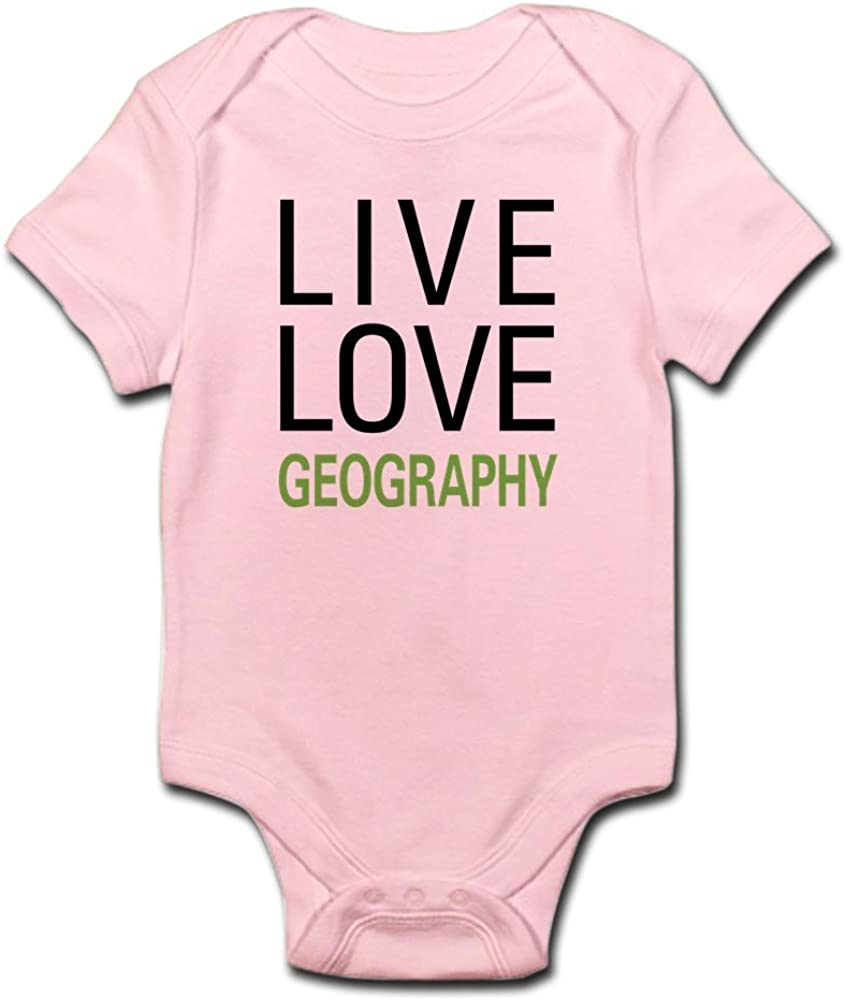 CafePress Cute Infant Bodysuit Baby Romper Live Love Geography