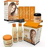 Kativa - Queratina para el cabello y aceite de Argán, Alisado Brasileño + Pack Post Tratamiento Alisado