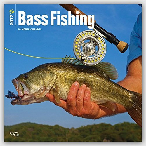 2017 Monthly Wall Calendar - Bass Fishing