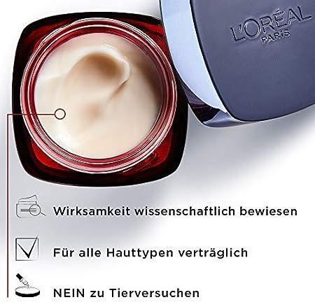 L'Oréal Paris Revitalift Laser Crema de día triple acción con ácido hialurónico, crema facial antiedad, triple efecto antienvejecimiento, piel tersa y arrugas atenuadas, 50 ml