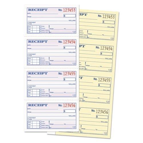 Adams Money and Rent Receipt Book, 2-Part Carbonless, 5 1/4 x 11 Inch Detached, Spiral Bound, 200 Sets per Book (SC1152) - Bundle Includes Plexon Ballpoint Pen (5-Pack Bundle) by PlexonPackaged-Adams (Image #3)