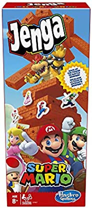 Jenga: Super Mario Edition Game, Block Stacking Tower Game for Super Mario Fans, Ages 8 and Up