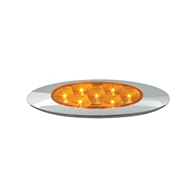 Grand General 77830 Amber Ultra Thin Spyder Y2K 7-LED Marker and Clearance Sealed Light: Automotive