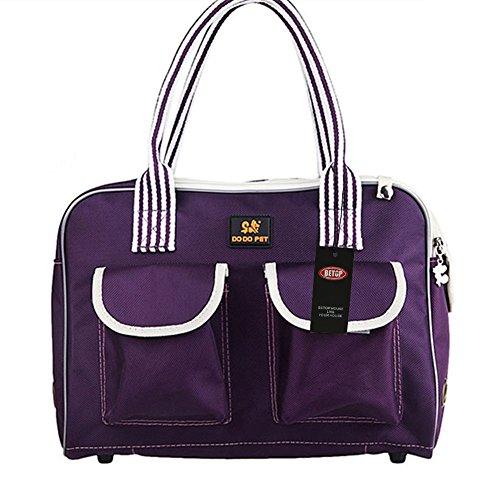 BETOP-HOUSE-Purple-Oxford-Pet-Dog-Carrier-Bag-Portable-Purse