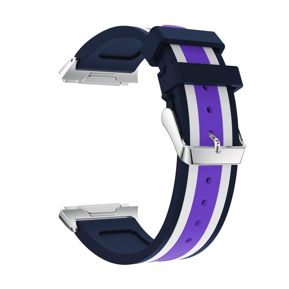 kaicranファッションスポーツバンドスポーツソフトシリコン交換スポーツバンドfor Fitbit Ionic One size  パープル B078JPC3BS