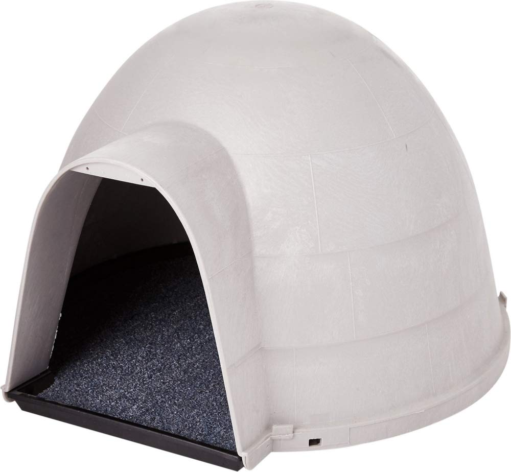 Petmate Kitty Kat Condo Outdoor Cat House Rain and Snow Diverting Hood Carpeted Floor One Size by Petmate