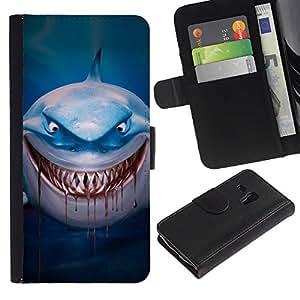 For Samsung Galaxy S3 MINI NOT REGULAR! I8190 I8190N,S-type® Evil Blood Blue Dive Character Cartoon - Dibujo PU billetera de cuero Funda Case Caso de la piel de la bolsa protectora