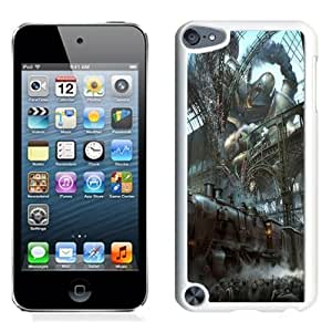 Fashionable Custom Designed iPod Touch 5 Phone Case With Steampunk Train Station Titan_White Phone Case