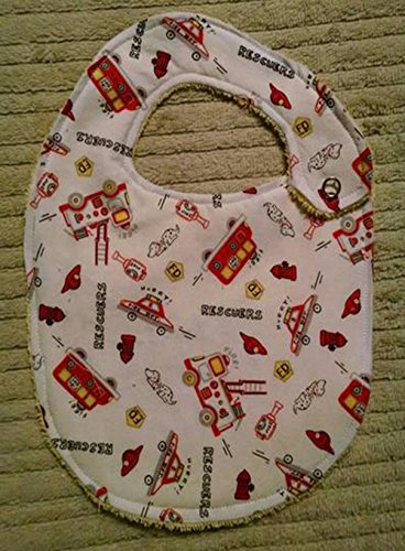 Fire Engine Fire Fighter Bib or Burp Cloth