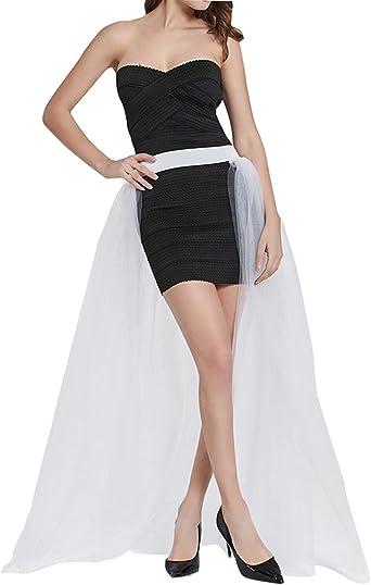 FEOYA falda de tul para mujer, 4 capas, falda larga de tutú de ...