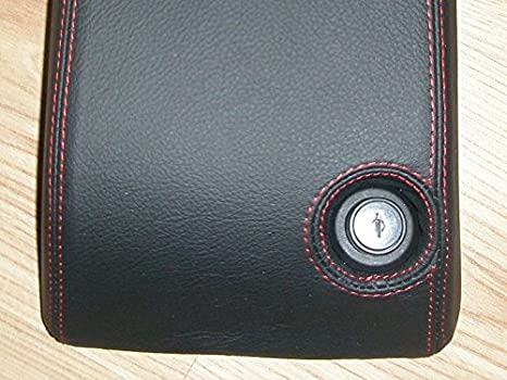 RedlineGoods armrest cover type 3 compatible with Jeep Wrangler TJ 1997-06 Black Alcantara-Blue thread
