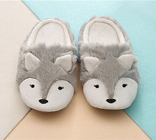 Women Ladies Winter Thermal Thick Coral Fleece Slippers Feet Warmer Cozy Comfort Antiskid Slip-On House Slippers Footwear Shoes, 3D Fox Design by Fakeface (Image #2)