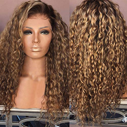 ♛Euone Wig ♛Clearance♛, Sexy Women Wig Fashion Afro Long Kinky Curly Hair Wavy Wigs Lace Front Wig Party Wig