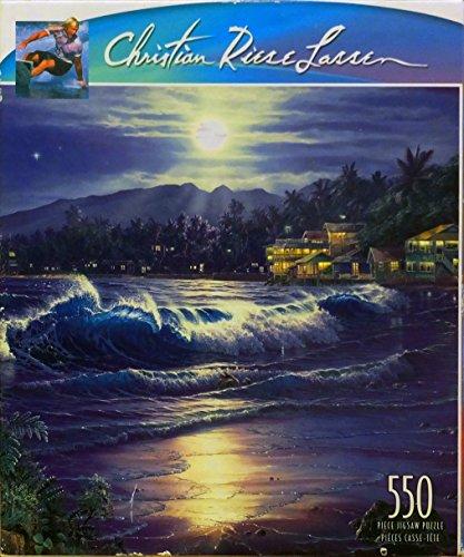 Christian Riese Lassen 550 Piece Jigsaw Puzzle - Moonlite Cove