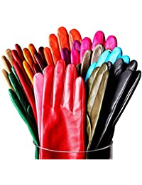 Women's Touchscreen Texting Genuine Nappa Leather Glove Winter Warm Simple Plain Cashmere & Wool Blend Lined Gloves