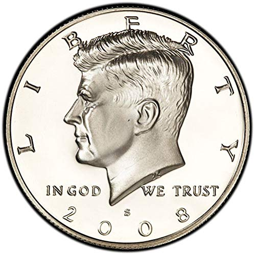 2008 S Silver Proof Kennedy Half Dollar Choice Uncirculated US Mint -