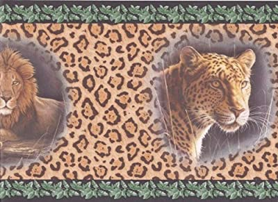 Black Cheetah Animal Wallpaper Border 2002 HB